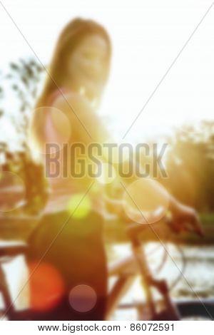 Girl In Sun Light Blur