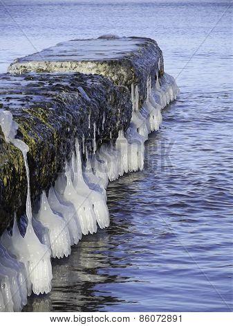 Frozen footbridge
