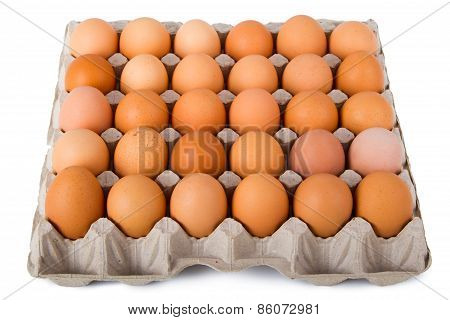 Brown Eggs In A Carton