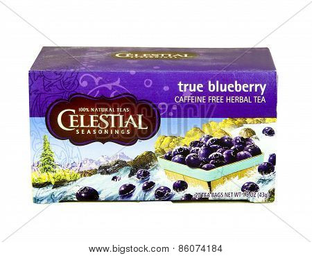 Box Of Celestial Blueberry Herbal Tea
