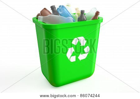 Recycle Bin With Plastic Bottles