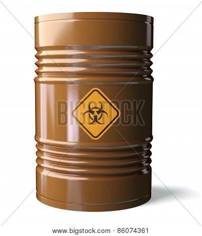 Barrel with Bio-hazard symbol