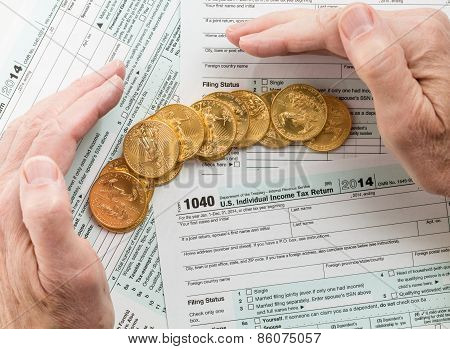 Solid Gold Coins On 2014 Form 1040