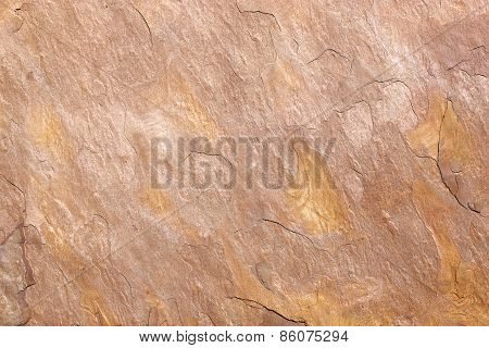 Detail of an ocher stone slab
