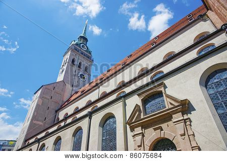 Saint Peter Cathedral In Munich