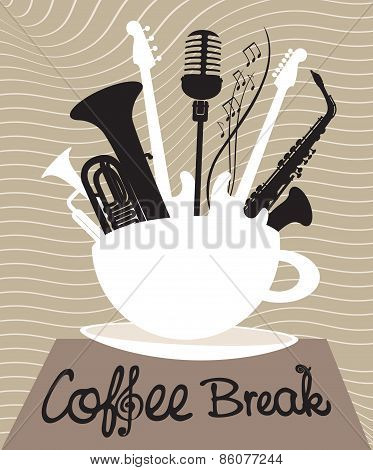 Drink coffee listen to music