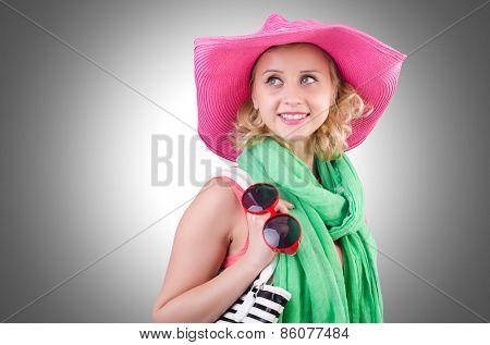 Girl preparing for summer vacation