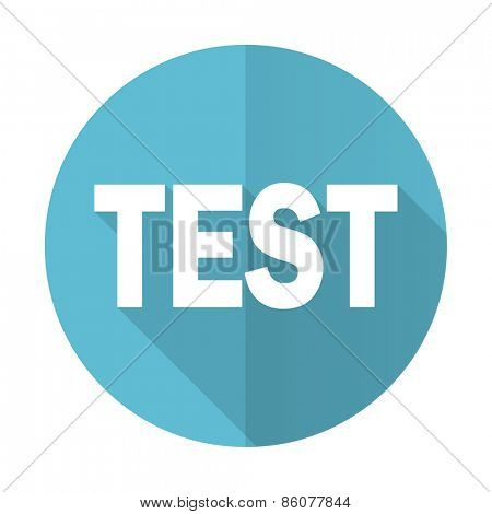 test blue flat icon