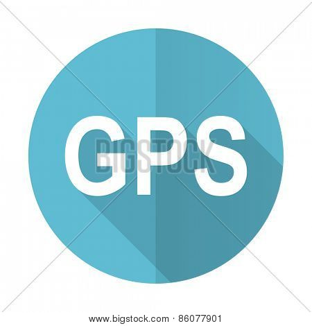 gps blue flat icon
