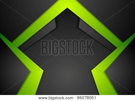 Vibrant tech corporate abstract background. Vector design