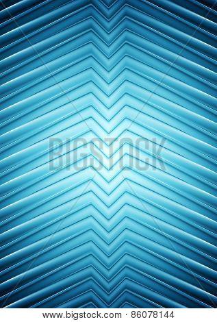 Big blue smooth arrows vector background