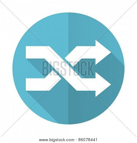 aleatory blue flat icon