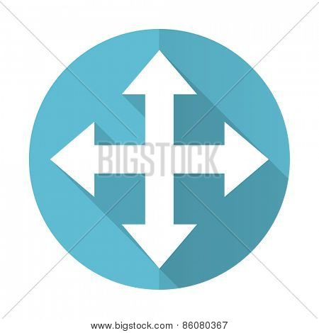 arrow blue flat icon