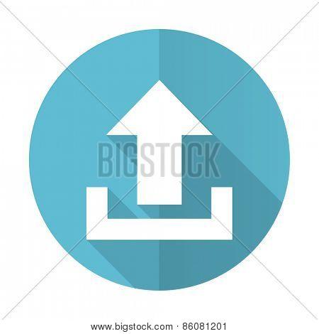upload blue flat icon
