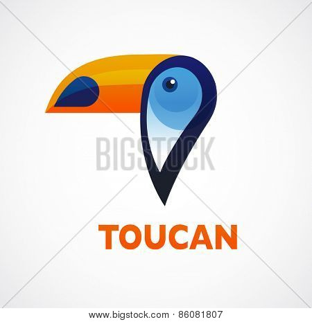 Tropical birds - toucan vector icon