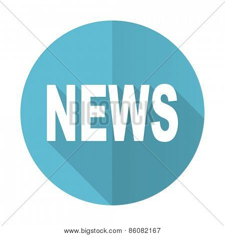 news blue flat icon
