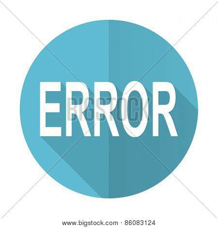 error blue flat icon