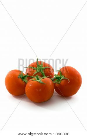 Bunch of tomatoes, vertical, space at top