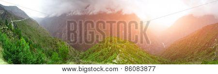 Beautiful mountain view of Everest Region, Sagarmatha National Park, Himalayas, Nepal