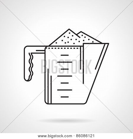 Black line vector icon for cup-supplements