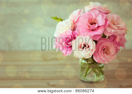 Rose flowers bouquet - vintage color style