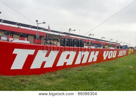 Fontana, CA - Mar 22, 2015:  Auto Club Speedway shows their support to Jeff Gordon on 19 years in the sport in Fontana, CA.
