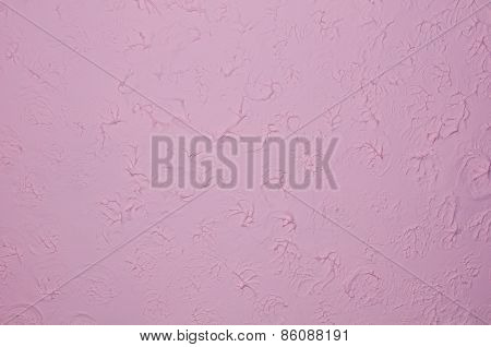 Purple Wall With Plaster Relief