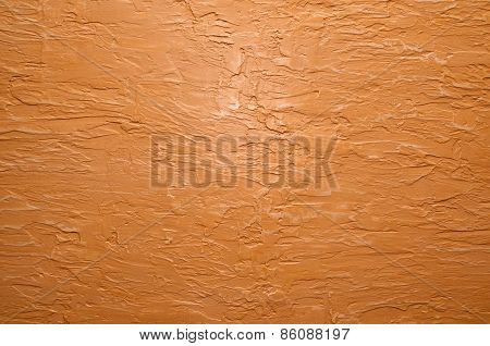 Orange Wall With Plaster