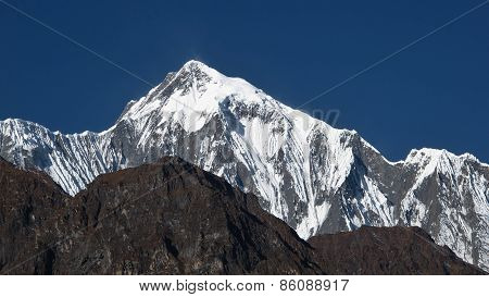 Majestic Peak Of The Annapurna Range