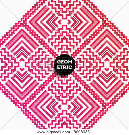 Abstract Geometric Pattern for Modern Hipster Cover Design. Black Label with Place for Business Logo