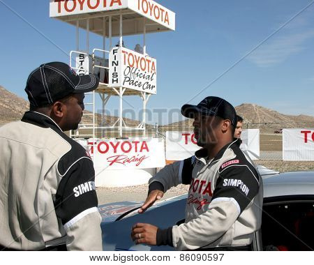 LOS ANGELES - FEB 21:  Mekhi Phifer, Alfonso Ribiero at the Grand Prix of Long Beach Pro/Celebrity Race Training at the Willow Springs International Raceway on March 21, 2015 in Rosamond, CA