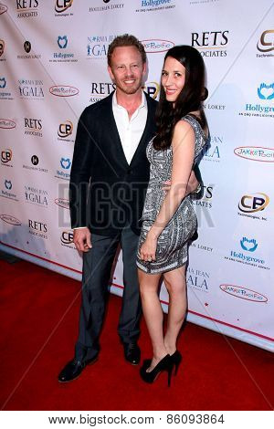 LOS ANGELES - MAR 18:  Ian Ziering, Erin Kristine Ludwig at the Norma Jean Gala at the Taglyan Complex on March 18, 2015 in Los Angeles, CA