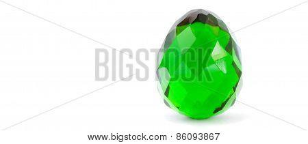 Green Glass Easter Egg