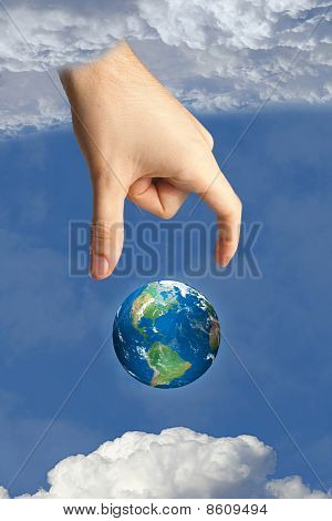 Earth In Heaven And The Hand Of God