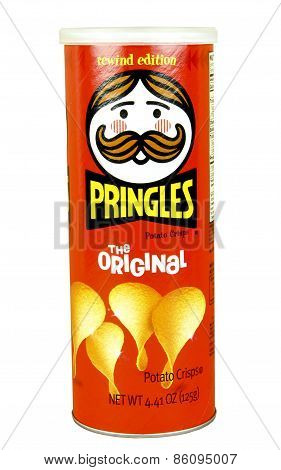 Container Of Pringles Potato Chips