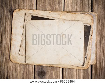 Old Paper On The Wood Background