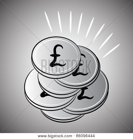 Silver Coins Sterling Pounds