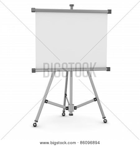 3D Empty Whiteboard