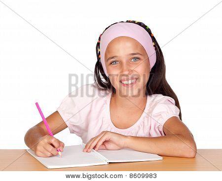 Student Little Girl