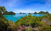 foto of marines  - Bird eye view of Angthong national marine park koh Samui Suratthani Thailand - JPG