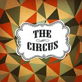 stock photo of rhombus  - Circus Abstract Poster with Colored Rhombus - JPG