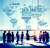 stock photo of comparison  - Data Analysis Analytics Comparison Information Networking Concept - JPG