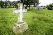 picture of empty tomb  - An old cross grave marker in rural Iceland - JPG