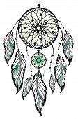 picture of dream-catcher  - Vector decorative Dream catcher - JPG