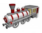 pic of locomotive  - illustration of steam locomotive on white background - JPG