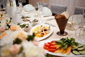 picture of catering  - table set for wedding or another catered event dinner - JPG