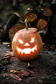 picture of jack-o-lantern  - Angry halloween jack - JPG