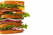 picture of deli  - Homemade Sandwich on white background - JPG