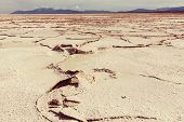 foto of salt mines  - Salt desert in the Jujuy Province - JPG