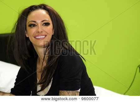 Jodie Marsh At The Powwownow 24 Hour Conference Call Event In Waterloo Station In Central London 30